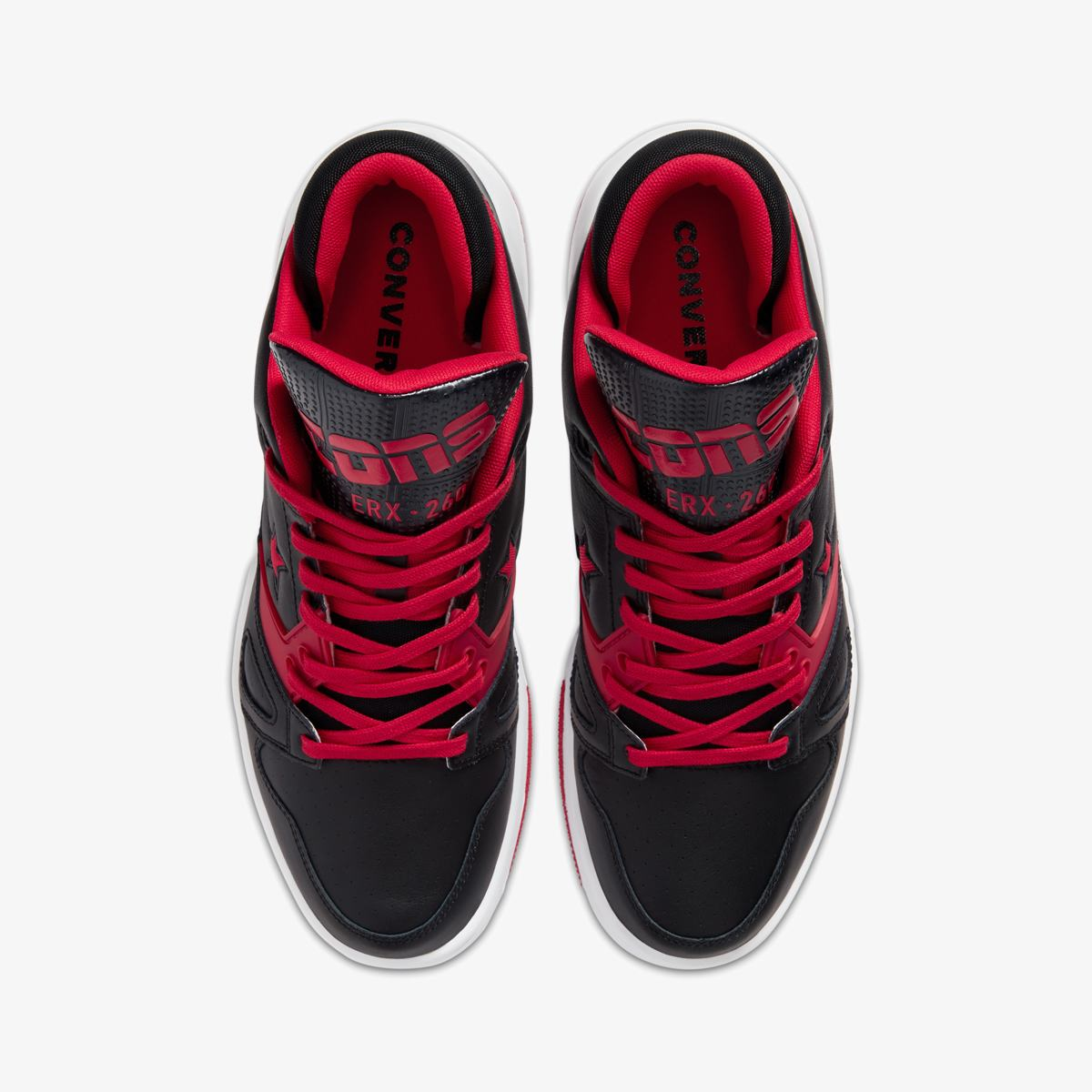 Кеды CONVERSE ERX 260 OX BLACK/UNIVERSITY RED/WHITE