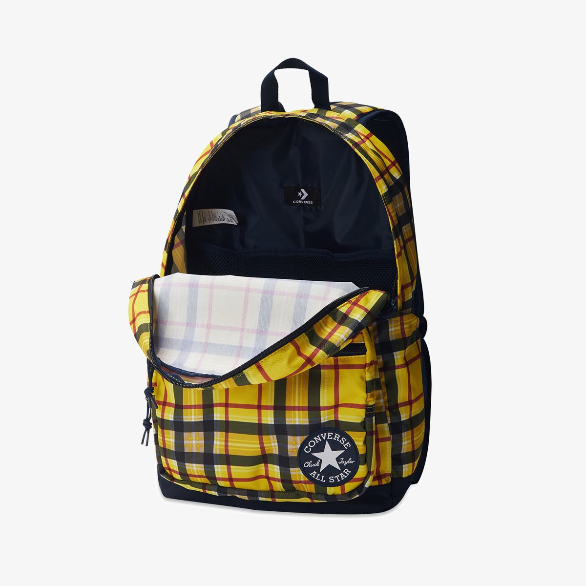 Рюкзак CONVERSE GO 2 BACKPACK YELLOW PLAID/OBSIDIAN