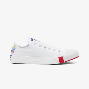 Кеды CONVERSE CTAS OX WHITE/UNIVERSITY RED/BLACK