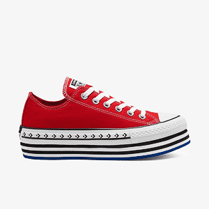 Кеды CONVERSE CTAS PLATFORM LAYER OX UNIVERSITY RED