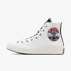 Кеды CONVERSE CHUCK 70 HI WHITE/UNIVERSITY RED