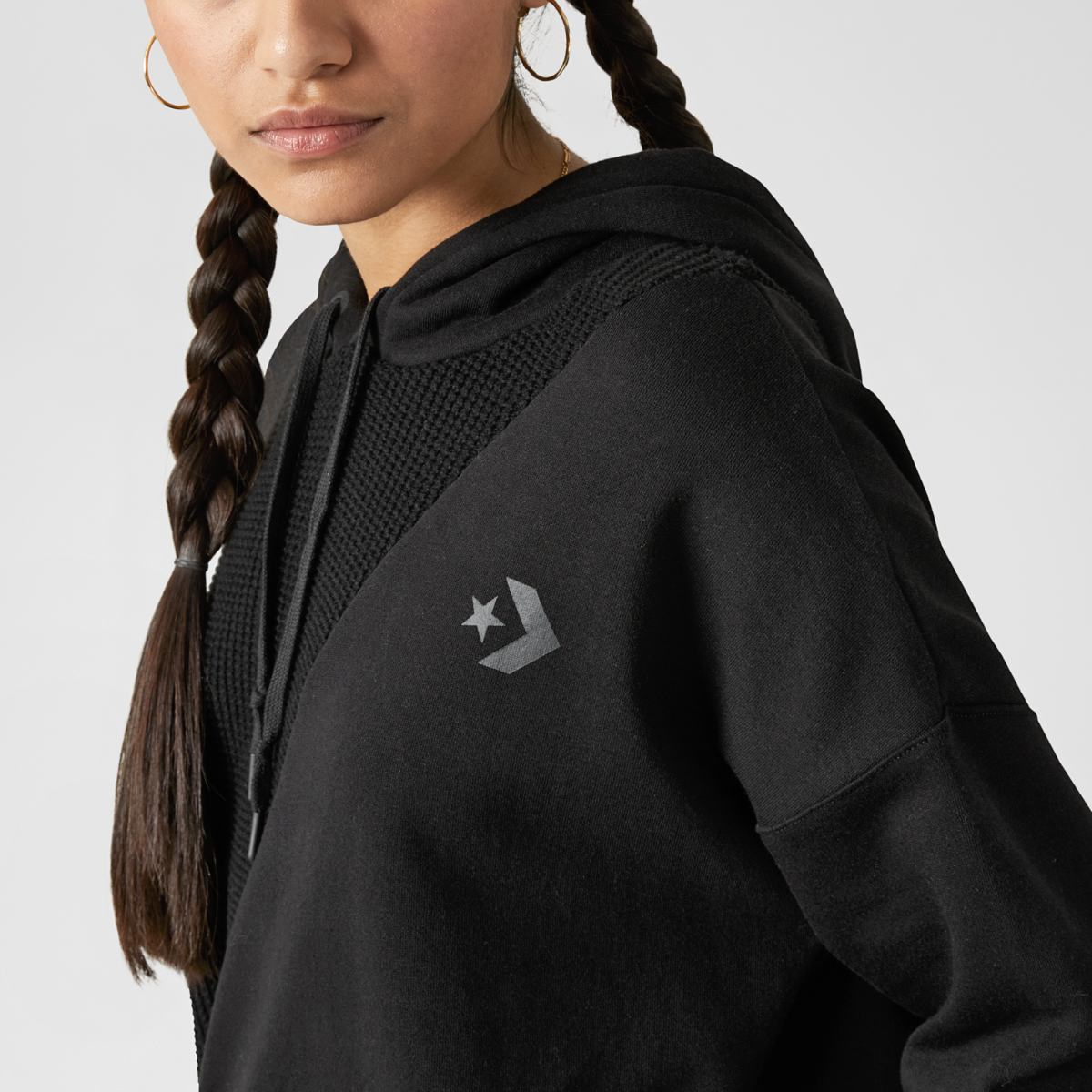 Толстовка Converse Sweater Knit Cropped Pullover Hoodie