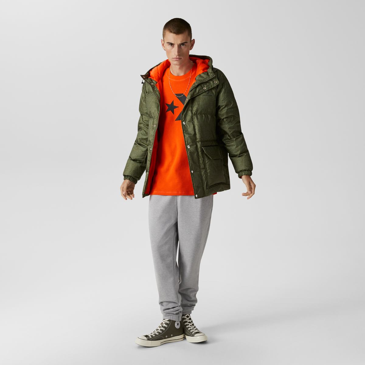 Куртка Converse Printed Down Puffer Jacket
